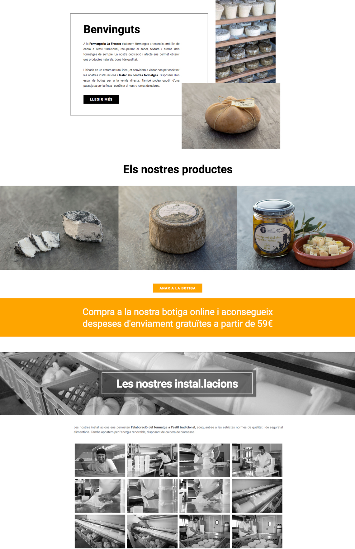 Brandall Agency Project La Frasera Website