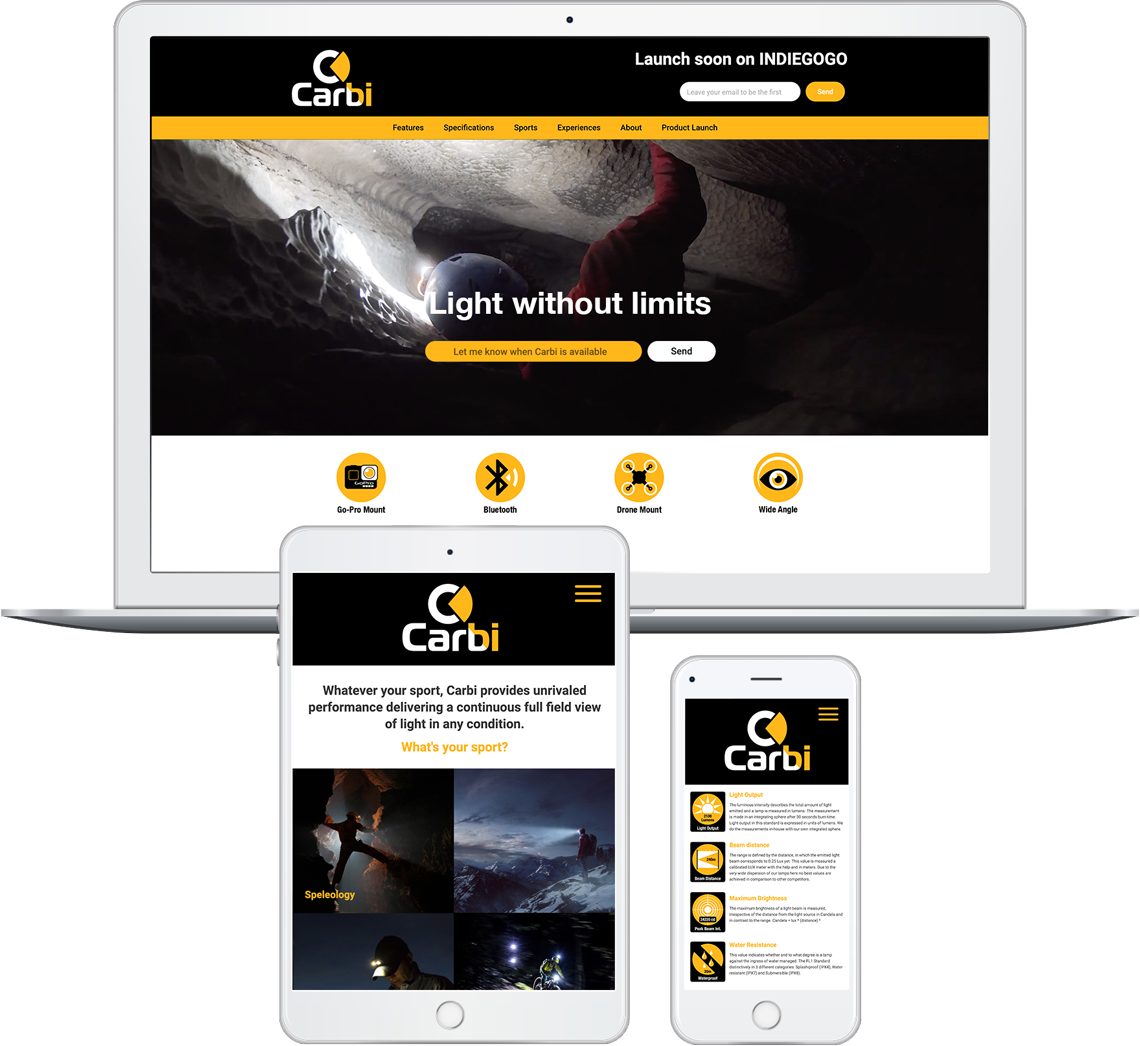 Brandall Agency Carbi Website Design