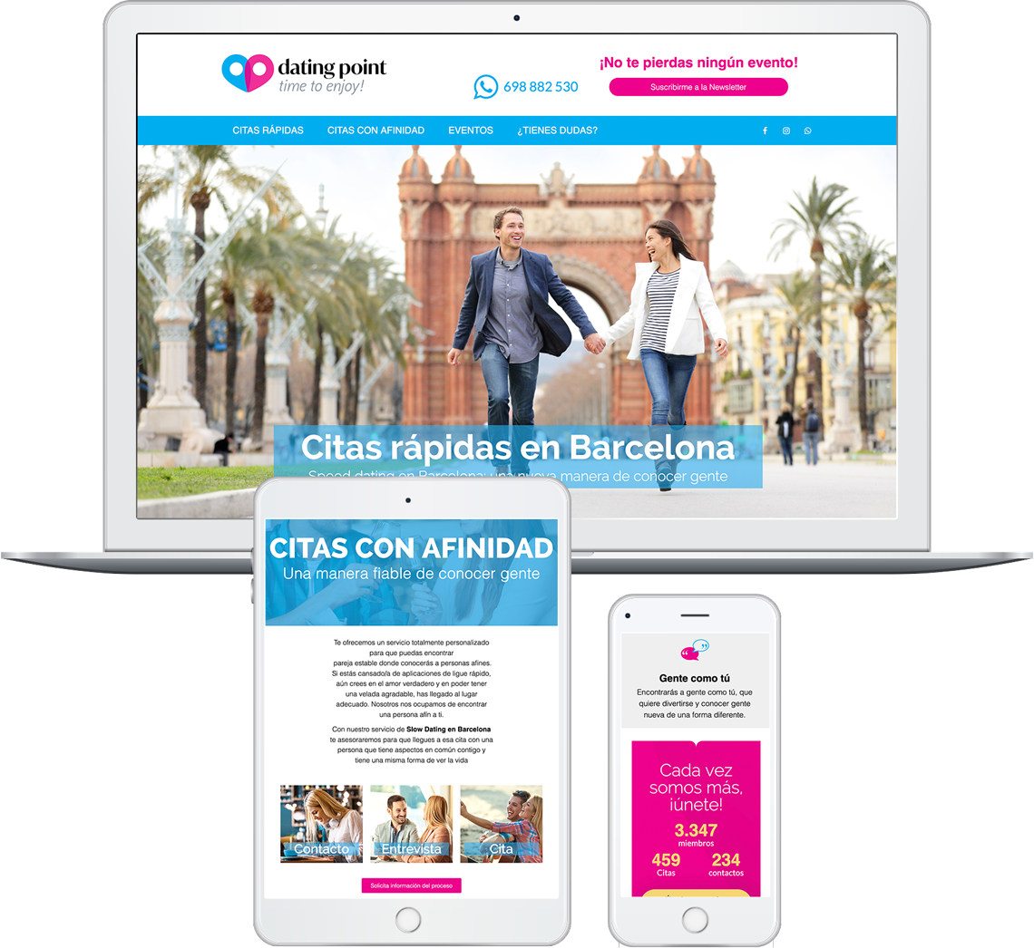 Brandall Agency Dating Point Website Design